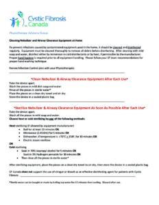 Рекомендации по стерилизации небулайзера и дыхательных тренажеров от физиотерапевтов МВ Канады